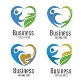 Opieki i dobroczynności loga pojęcie Zdjęcie Royalty Free
