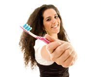 opieki kobieta świadoma stomatologiczna Obrazy Royalty Free