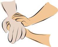 opieki ręki chwyta palliative Fotografia Stock