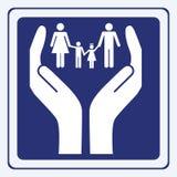 opieki rodziny znak Obraz Stock