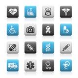 opieki wrzosowiskowych ikon wrzosowiskowe medycyny serie ilustracji