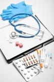 opieki zdrowie medycyna Cierpliwa konsultacja z lekarką fotografia royalty free