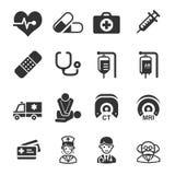 opieki zdrowie serc ikon zęby royalty ilustracja