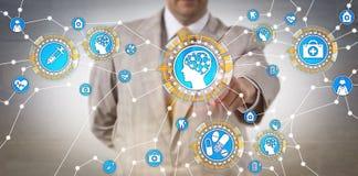 Opieki zdrowotnej IT administrator Aktywuje AI Przez IoT obrazy stock