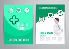 Opieki zdrowotnej broszurka Zdjęcie Stock