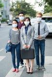Opieki zdrowotnej i zanieczyszczenia powietrza pojęcie Fotografia Stock