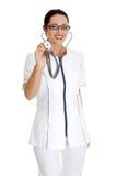 opieki zdrowotnej jednolici kobiety pracownika potomstwa Zdjęcie Stock