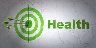 Opieki zdrowotnej pojęcie: cel i zdrowie na ściennym tle ilustracja wektor