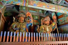 Opiekunów demony przy bramami Buddyjski teple Fotografia Royalty Free