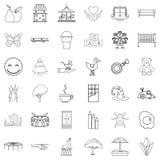Opiekun ikony ustawiać, konturu styl ilustracja wektor
