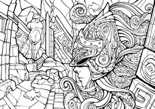 Opiekun podwodny królestwo royalty ilustracja