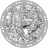 Opiekun podwodny królestwo ilustracji