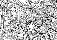 Opiekun podwodny królestwo ilustracja wektor