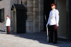 Opiekuny Uroczystych mistrzów pałac w Valletta zdjęcie stock