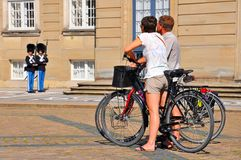 Opiekuny w Kopenhaga obrazy royalty free