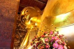 Opiera Buddha w Pho świątyni Fotografia Stock
