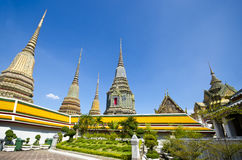Opierający Buddha świątynię (Wat Pho) Obraz Royalty Free