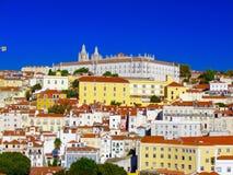 opinião da Telhado-parte superior de Lisboa, Portugal imagens de stock