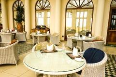Opinião à moda do interior do hotel Foto de Stock Royalty Free