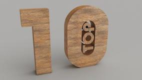 Opinião 1 da madeira da parte superior 10 Imagens de Stock Royalty Free