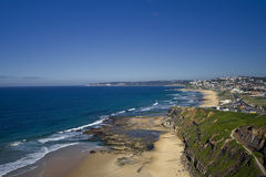 Opinião 2 da costa de Newcastle Foto de Stock