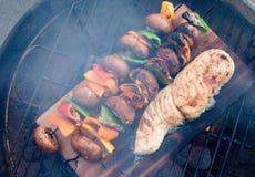 Opinião aérea 2 dos peixes do BBQ Fotografia de Stock