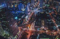 Opinião aérea bonita de Banguecoque foto de stock royalty free