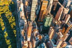 Opinião aérea Columbus Circle em NYC Fotos de Stock Royalty Free