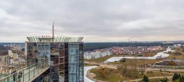 Opinião aérea da arquitetura da cidade Fotografia de Stock Royalty Free