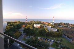 Opinião aérea da arquitetura da cidade de Gelendzik, Rússia Imagens de Stock Royalty Free