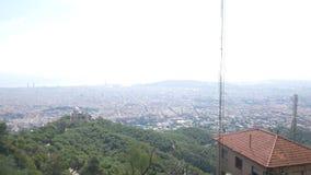 Opinião aérea da cidade de Barcelona Vista geral da cidade filme