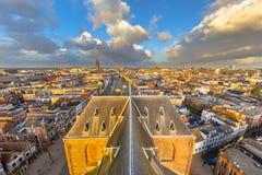 Opinião aérea da cidade de Groningen Imagem de Stock