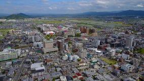 Opinião aérea da cidade de Omihachiman Imagem de Stock