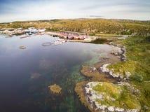 Opinião aérea da costa norueguesa imagens de stock