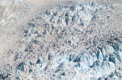 Opinião aérea da geleira Imagem de Stock