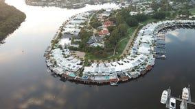 Opinião aérea da maneira da água da ilha da esperança Fotografia de Stock Royalty Free