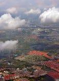 Opinião aérea da manhã de subúrbios de Banguecoque, Tailândia Fotografia de Stock