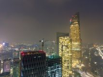 Opinião aérea da noite Abu Dhabi Downtown Skyscrapers, árabe unido fotos de stock royalty free