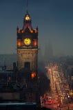 Opinião aérea da noite de Edimburgo Fotos de Stock Royalty Free