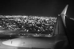 Opinião aérea da noite de Miami Fotografia de Stock