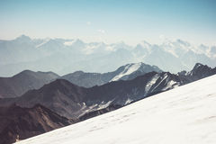 Opinião aérea da paisagem das montanhas Fotos de Stock Royalty Free