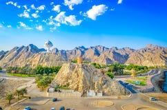 Opinião aérea da paisagem de Muscat Foto de Stock