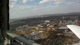 Opinião aérea da paisagem industrial da placa filme