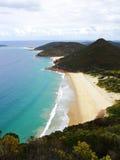 Opinião aérea da paisagem litoral cênico foto de stock