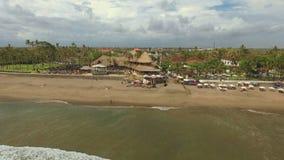 Opinião aérea da praia de Berawa video estoque