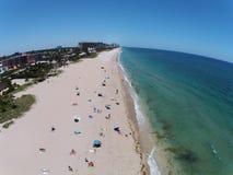 Opinião aérea da praia sul de Florida Fotografia de Stock