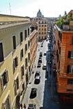 Opinião aérea da rua da cidade de Roma o 29 de maio de 2014 Imagens de Stock