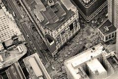 Opinião aérea da rua de New York City Manhattan Imagem de Stock Royalty Free