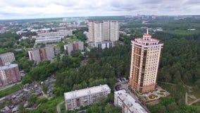 Opinião aérea da skyline da cidade video estoque