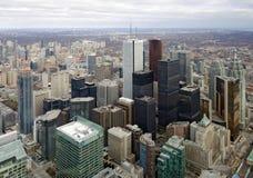 Opinião aérea da skyline de Toronto Foto de Stock